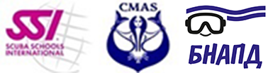 Scuba school international and CMAS logo